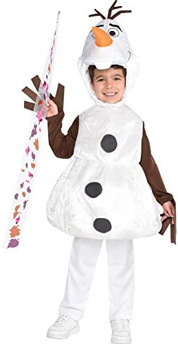 Party City Frozen 2 Olaf Halloween Costume for Boys Disney Medium 8 10 Includes Tunic Headpiece product image