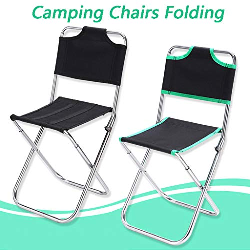 carol -1 Camping-Stuhl Faltbarer Outdoor Hocker Tragbarer Trekking Klapphocker Stahlgestell Camping Hocker für Camping, Outdoor, Konzerte, Angeln, Wandern