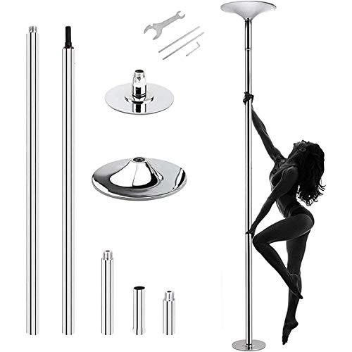 ZHBD 360 ° Spinning Tanzstange, Tragbare Stripper-Pole Für Home Wechseldatenträger 45Mm Fitness-Pole-Kit Für Anfänger Bewegungsverlustgewicht Home Fitnessstudio