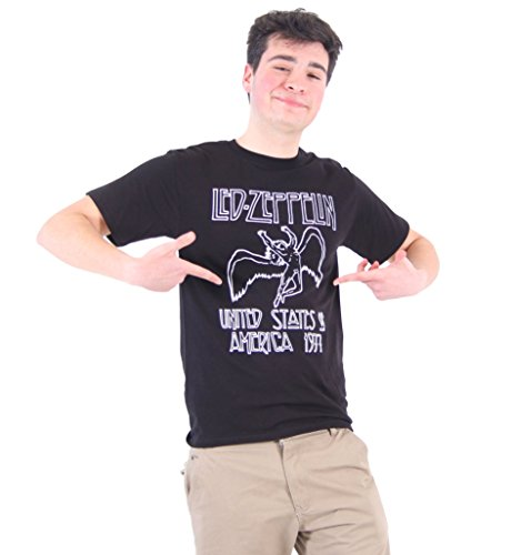Led Zeppelin 1977 American Tour Black Mens T-Shirt Tee