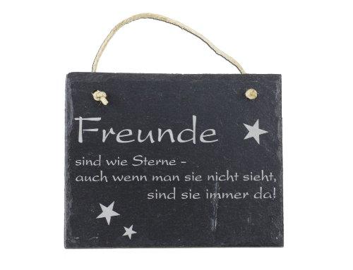 Schiefertafel - Freunde sind wie Sterne - sie sind immer da Schild Wandbild Hänger