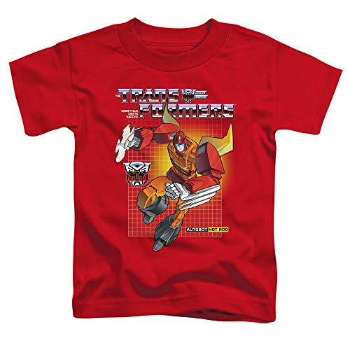 Transformers Toddler T-Shirt Hot Rod Red Tee, 2T