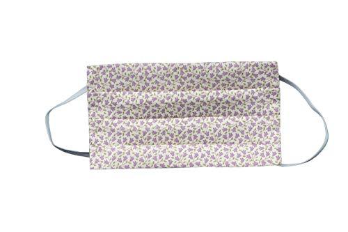 Handgemachter Mundschutz Nasenbedeckung Mundbedeckung Flower Power waschbar