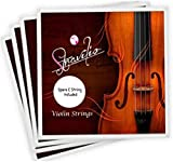 Stravilio Jeu de cordes pour violon complet de grande qualité Taille 4/4 et 3/4