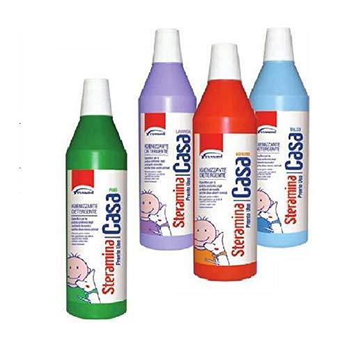 Steramina 3X Pronto Uso Casa Igienizzante Detergente per Pavimenti e Tutte Le superifici dure Lavabili 1 Litro x 3 Confezioni (AGRUMI)