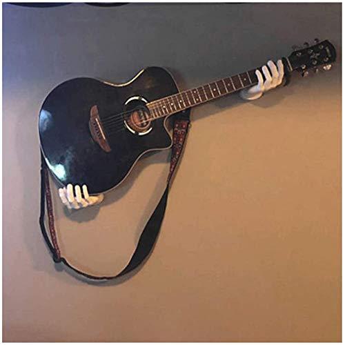 3D-Handgitarren-Wandhalterung - Gitarren-Wandhalterung Handförmiger Gitarrenhalter Wandhalterung Kopfhörerhalter, robuste Halterung für Gitarren aller Größen (Weiß)