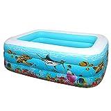 Piscinas Desmontables Rectangulares,Piscinas Desmontables Grandes Usado para Jardín Fiesta Al Aire Libre Bañera Inflable Plegable