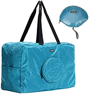 Foldable Travel Duffel Bag with Water Resistant for Women,  Men& Kids - Durable Lightweight Carry On Capacity Luggage,  Weekender Storage Tote Folding Bag for Sports,  Vacation,  Gym