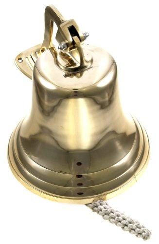 "11"" Brass Ship Bell Polished Nautical - Jumbo Bells"