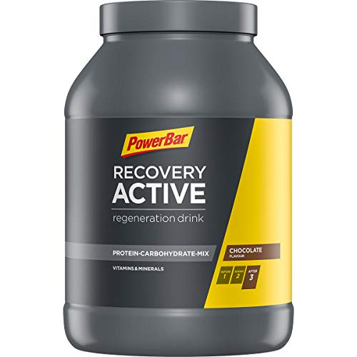 PowerBar Recovery Active Chocolate 1210g - Regenerations Whey Drink mit Kohlenhydraten + Magnesium und Zink