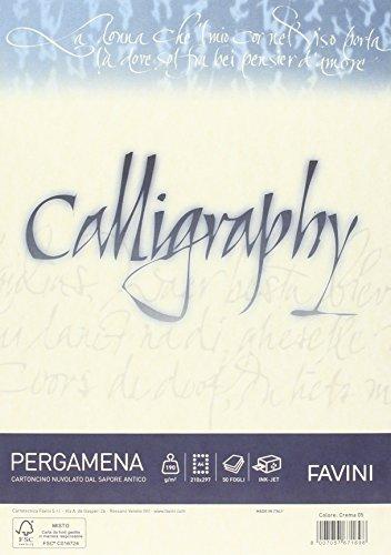Favini A692084 Calligraphy Pergamena Liscio, 50 Fogli