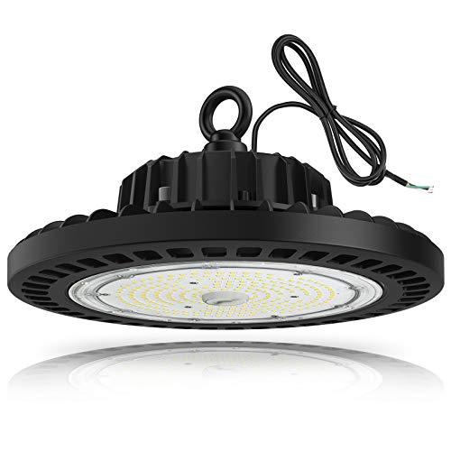 UFO LED High Bay Light, TREONYIA 150W Led Shop Lights- 5000K ETL&DLC Listed (600W HID/HPS Equivalent) Commercial Bay Lighting, IP65 Waterproof UL 5' Cable, AC100-277V, for Shop Garage Warehouse