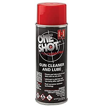 Hornady One Shot Gun Cleaner and Case Lube 10 oz – Aerosol Dry Lube with DynaGlide Plus – Clean Non-Sticky and Easy to Use – Contains No Petroleum Won t Contaminate Powder or Primers