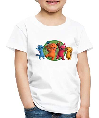Spreadshirt Der Kleine Drache Kokosnuss Party Freunde Kinder Premium T-Shirt, 134-140, Weiß