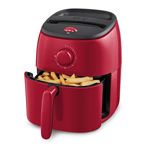 Dash Tasti-Crisp Electric Air Fryer + Oven Cooker with Temperature Control, Non-stick Fry Basket, Recipe Guide + Auto Shut Off Feature, 1000-Watt, 2.6 Quart - Red