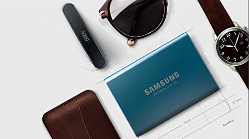 Samsung Memorie T5 da 500 GB, USB 3.1 Gen 2, SSD Esterno Portatile, Blu (MU-PA500B)