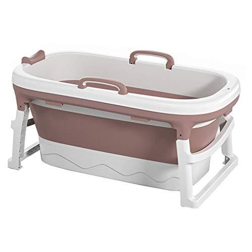 XYSQ Mobile Große Badewanne Falten Badezuber Erwachsene Reise Draussen Kinderbecken Familie Bad Badefaß Duschbecken Mit Abfluss Freistehend Tragbar (Color : Pink, Size : No Cover)