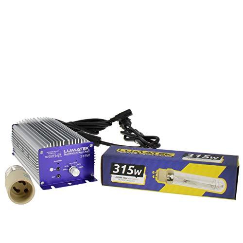 Lumaek CMH 315W - Kit electrónico de balasto + bombilla + adaptador...