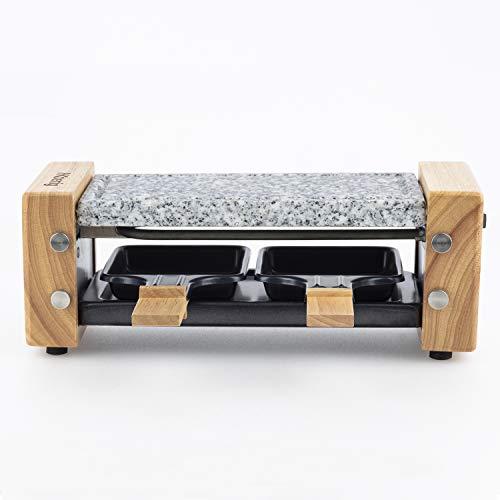 5. H.Koenig – Plancha de asar de piedra para 2 personas con potencia de 350 W