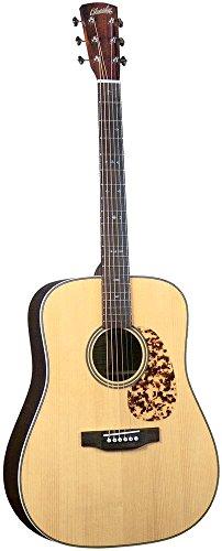 Blue Ridge BR-160A Craftsman tapa de pícea Adirondack Dreadnaught incrustaciones de guitarra con diseño de Zig Zag