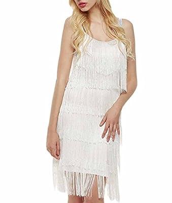 Celltronic Women Straps Dress Tassels Glam Party Dress Costume Dress