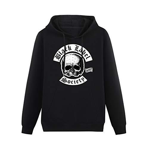 yanyan Mens Stylish Hoodies Meentre Black Label Society Heavy Metal Hoodies Long Sleeve Pullover Loose Hoody Sweatershirt Black Christmas Hoodie L