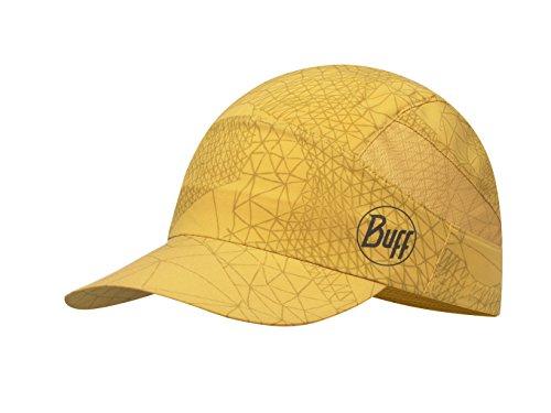 BUFF CAP, Casquette en matière tres fin avec visière extragrand 98% UV-protection, jaune moutarde, taille unique