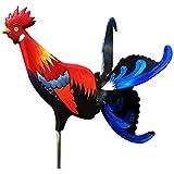 POHOVE Gallo Molino de viento Animales Spinner Rostalgie Pollo Hilde Jardín Decoración de Gallo Estaca de Jardín Estaca de Gallo Whirly Ornamento para Jardín Exterior Patio