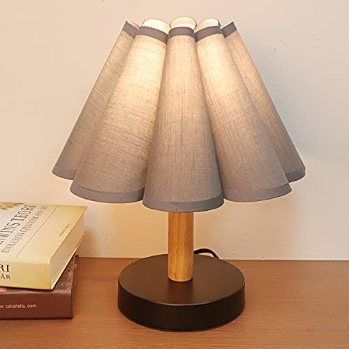 Lámparas de Mesita de Noche, Cuerpo de Diseño en Flores Color Gris,...