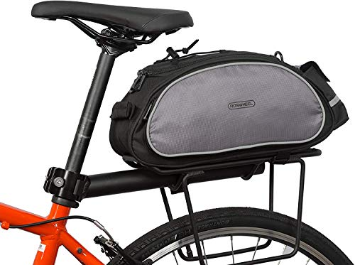 Roswheel 14541 Multifunctional Bike Rear Seat Cargo Bag Bicycle Rack Trunk Panniers, Black