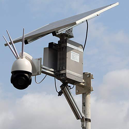 Cámara de seguridad solar profesional al aire libre inalámbrica WiFi 4g Lte Cctv Cámara Ai Smart Alarm 5mp Ptz Cámara 30x Zoom exterior de vigilancia con 128g de memoria, audio bidireccional
