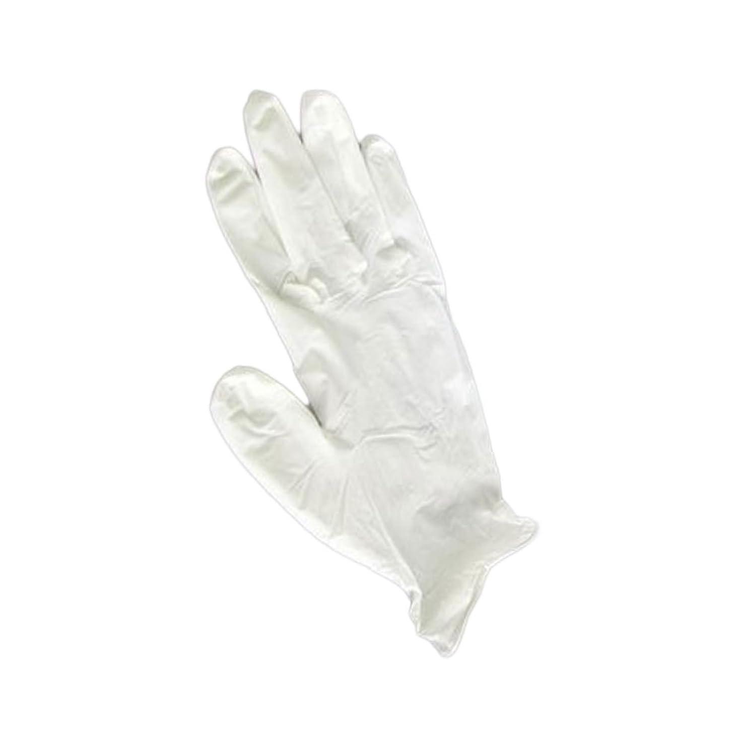 コンパイル踊り子日の出三高サプライ ニトリルグローブ(ゴム手袋) パウダーフリー BOXタイプ ダーマホワイト 100枚入り GN01 S