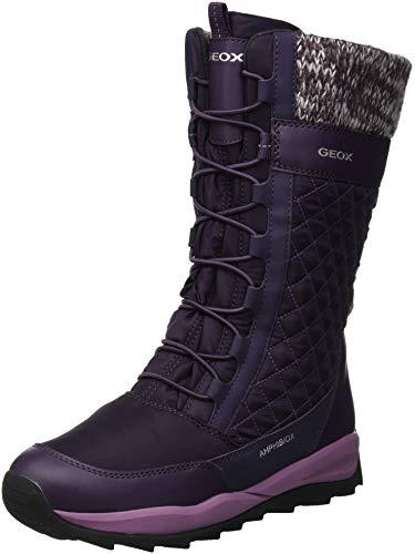 Geox Mädchen J Orizont B Girl ABX C Schneestiefel, Violett (Dk Purple C8016), 30 EU