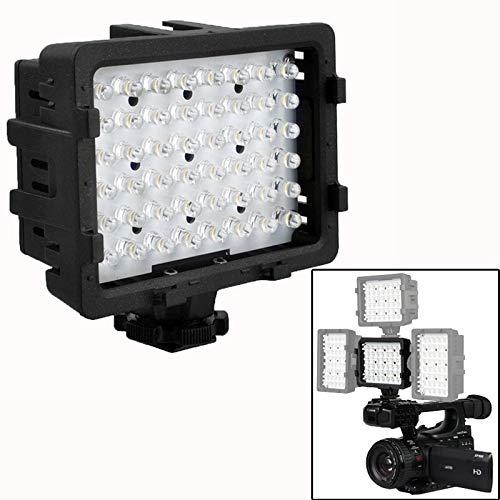 XINGRUI Illuminazione video 48-LED Video Light con 2 filtri per videocamera/videocamera (CN-48H) (nero) XINGRUI