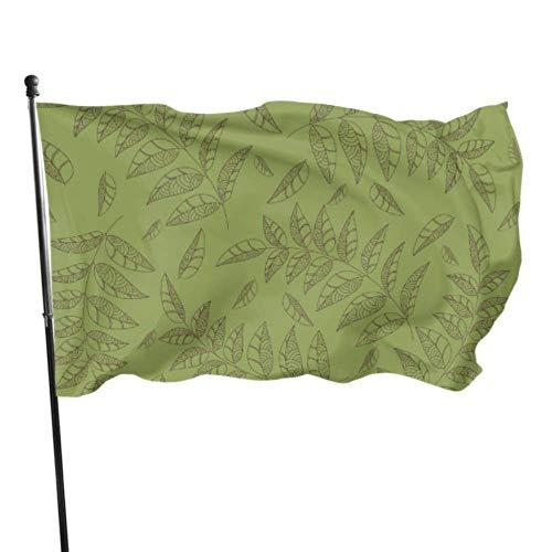 Vicky Green Willow Leaves im Frühling, bedruckte Flaggen, Outdoor-Flaggen, 91 x 152 cm, leuchtende Farben, hochwertiges Polyester und Messingösen
