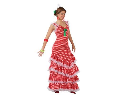 Atosa - 97151 - Costume - Déguisement De Sévillane Rouge A Pois Blanc - Taille 2
