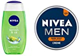 NIVEA Shower Gel, Lemon & Oil, 250ml and NIVEA MEN Cream, Dark Spot Reduction, 150ml
