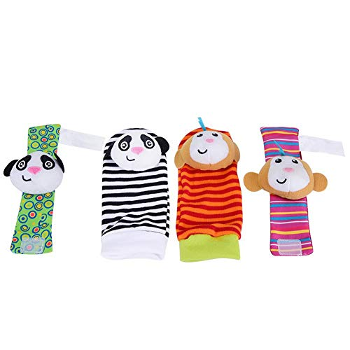 Buy Bargain Baby Socks Toys Wrist Rattles Foot Finders,Infant Animals Rattle Socks&Wristbands Baby S...