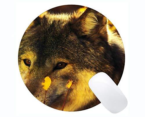 Yanteng Gaming Mouse Mat,Animal Wolf Vinyl Mousepad Nonslip Rubber Backing