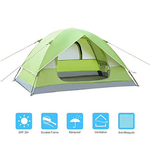 yourjoy Your Joy 3 Season 2 Person Portable Family Outdoor Mibyxed Colors Backpacking Tents Roller Blind Dual Doors Waterproof Camping Tent Use Family Outdoor Camping Beach Hiking Traveling Blue