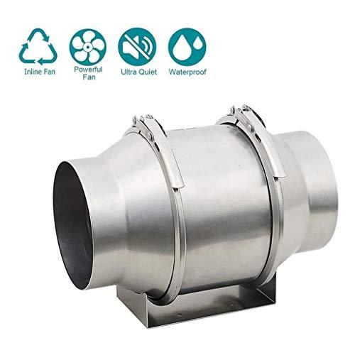 Lcxligang Conducto de Aire del Ventilador de bajo Ruido del Ventilador en línea Booster ventilación eficaz de 250 m³ / h / 590 m³ / h for Baño Aseo Oficina Hecho de Acero Inoxidable (4/6) Extractor 6