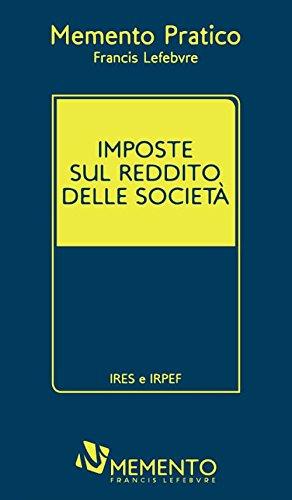 Imposte sul reddito delle società. IRES e IRPEF