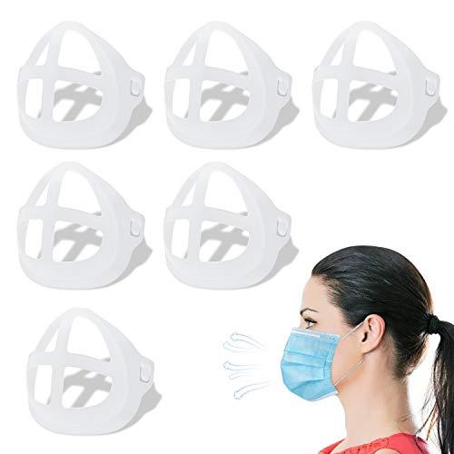 GOKEI Halterung: Innenstütze, 6 Stück, Nasenpolster, L-IPSTICK Schutz, Kühlhalterung, verhindert Make-up-Entfernen, verbessert den Platz für Nase und Mund.