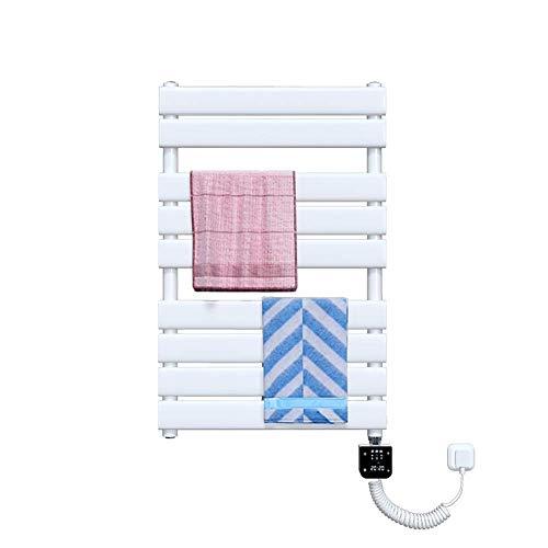 Toallero eléctrico con calefacción Termostato eléctrico, Ancho 500 mm Blanco termostático Radiador eléctrico Secadora Toalla eléctrica precargada