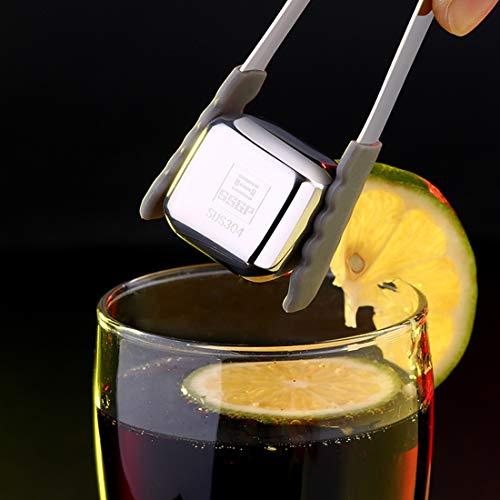 DACHENGJIN Mold Edelstahl Chilling Mehrweg-Eiswürfel for Whisky, Wodka, Liköre DACHENGJIN