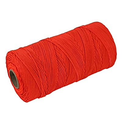 Braided Nylon Mason Line #18 - SGT KNOTS - Moisture, Oil, Acid, Rot Resistant - Twine String Masonry, Marine, DIY Projects, Crafting, Commercial, Gardening use (250 ft, 500 ft, or 1000 ft)