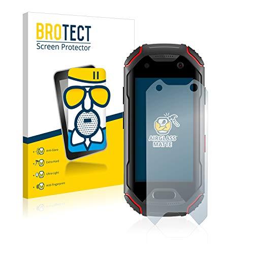 BROTECT Protector Pantalla Cristal Mate Compatible con Unihertz Atom Protector Pantalla Anti-Reflejos Vidrio, AirGlass