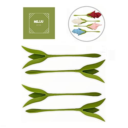 Portatovaglioli a forma di fiore, centrotavola fiorito, ferma tovaglioli, set di 4 pezzi, portatovaglioli da tavola, moderno, fior di carta tovaglioli