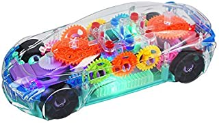 Qualimate Transparent Concept Racing Car with 3D Flashing Led Lights Musical Car for Kids, Toy for 2-5 Year Kids Children