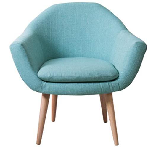 JJZXD Nórdica Moderna Minimalista Silla Perezosa del sofá, Habitación Sala Tela del Ocio Sofá Perezoso Balcón sofá (Color : A)